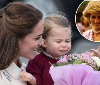 """Неверојатно фото: Покојната Дијана ја """"запозна"""" принцезата Шарлот"""