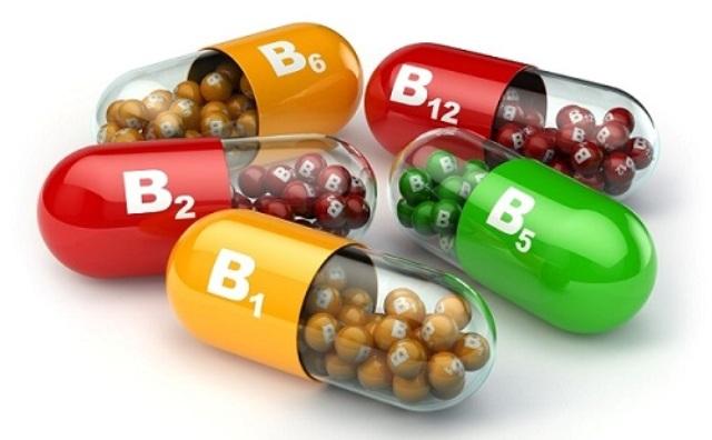 45111448 - vitamin b. capsules b1 b2 b6 b12 on white isolated background. 3d