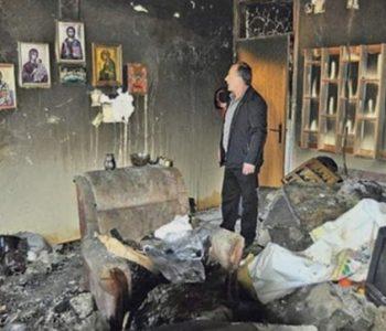 Чудо во Сребреница: Станот изгоре а иконите останаа недопрени од пожарот