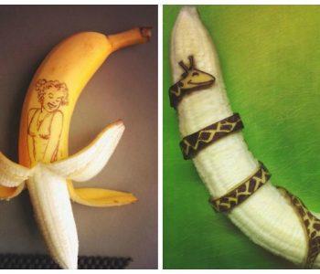 Од банани создава вистинска уметност