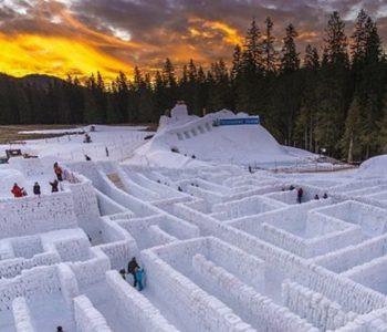 Зимска бајка: Ова е најголемиот снежен лавиринт во светот