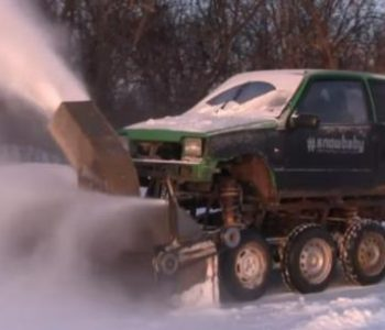 "Русин од стара лада успеа да направи ""чудовиште"" за чистење на снег"